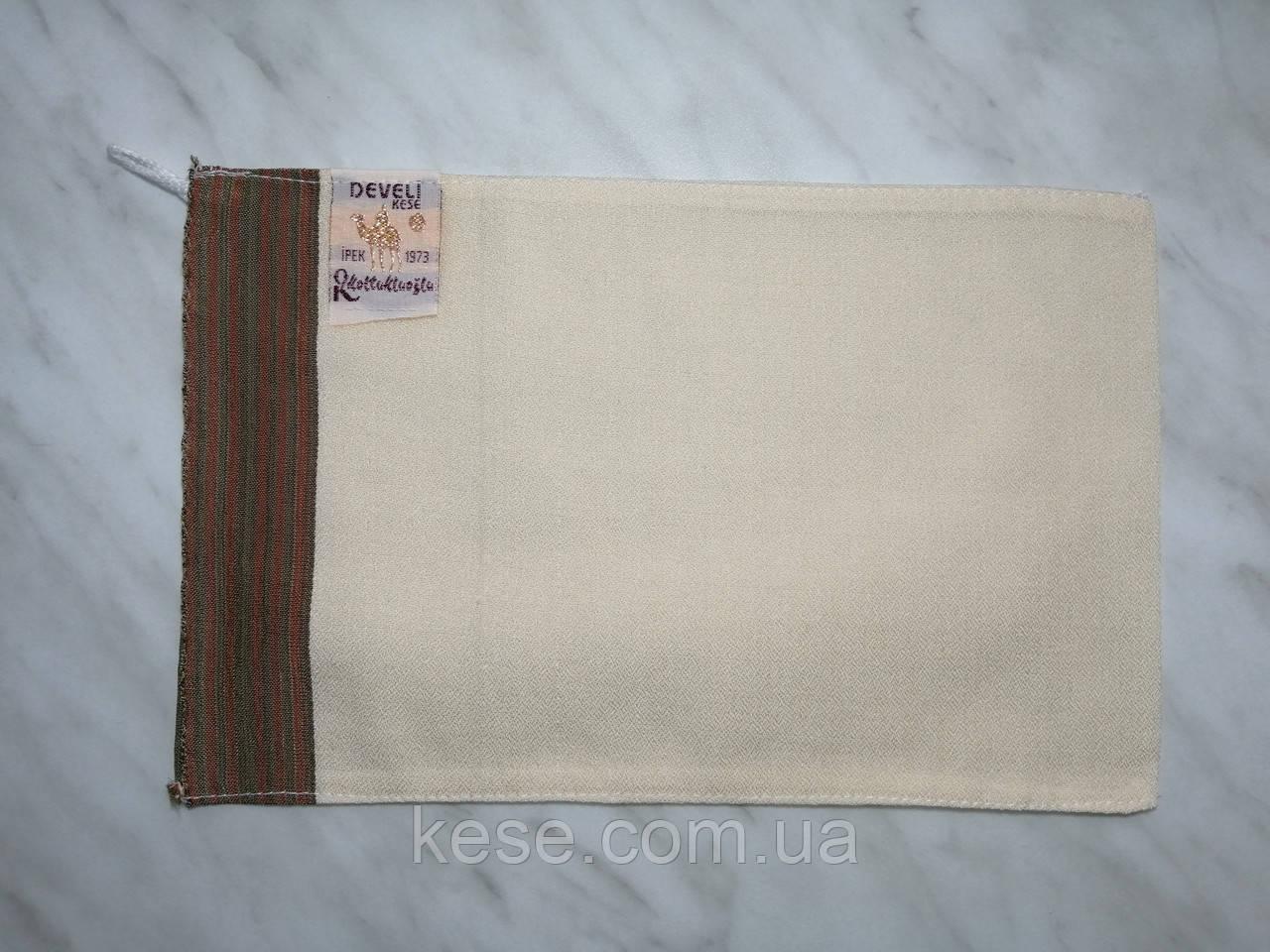 Перчатка для хамама кесе шелковая для тела (средней жесткости)
