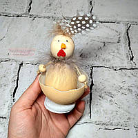 Декор пасхальный, фигурка Пасхальное яйцо, Курочка в скорлупе