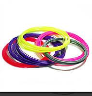 Нить PLA пластика для 3Д ручки 10м, 20 цветов, стержень для 3D ручки цвета уточнять