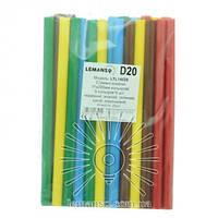 Стержні клейові кольорові 11х200мм, 20 шт (цена за упаковку) LTL14028