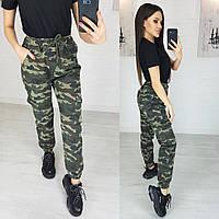1243 X джинсы женские камуфляжные на резинке котоновые (25,26,26,26,28, 5 ед.), фото 1