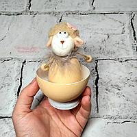 Декор пасхальный, фигурка Пасхальное яйцо, Овечка в скорлупе