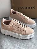 Кроссовки, криперы Спортивные туфли розовые на платформе, фото 4