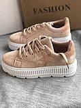Кроссовки, криперы Спортивные туфли розовые на платформе, фото 7