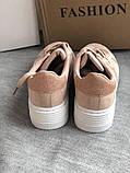 Кроссовки, криперы Спортивные туфли розовые на платформе, фото 6