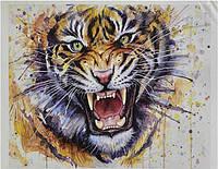 """Набор «Рисование по номерам» картина по номерам KTL 1668  """"Тигр""""  / Рисование красками"""
