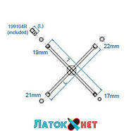 Ключ балонный крестовой 17мм x 19мм x 21мм x 22мм 19911722 KingTony 400мм, фото 2