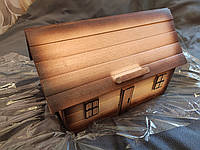 """Хлебница деревянная """"Дом"""" ручная работа, фото 1"""