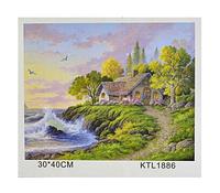 """Набор «Рисование по номерам» картина по номерам KTL 1886  """"Природа""""  / Рисование красками"""