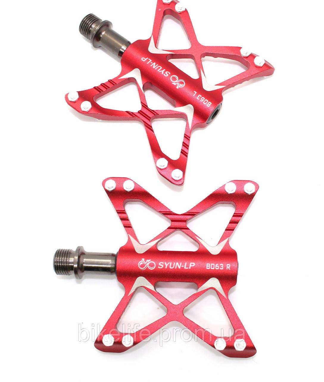 Велосипедные педали на пром подшипниках алюминиевые 081