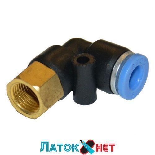 Соединитель быстроразьемный внутренняя резьба 3/8 - пластиковый шланг 8 мм SPLF08-03 Airkraft
