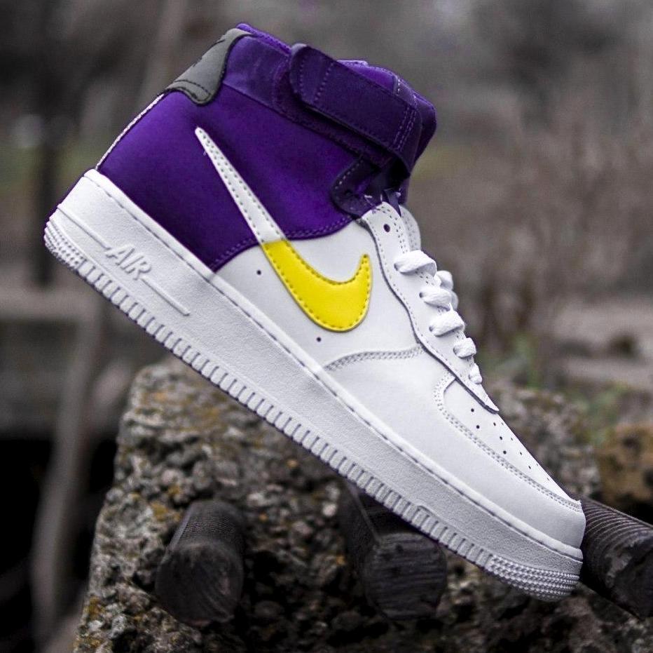 Мужские кроссовки Nike Air Force 1 Mid NBA, nike air force high (2 ЦВЕТА)