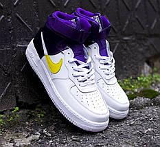 Мужские кроссовки Nike Air Force 1 Mid NBA, nike air force high (2 ЦВЕТА), фото 2