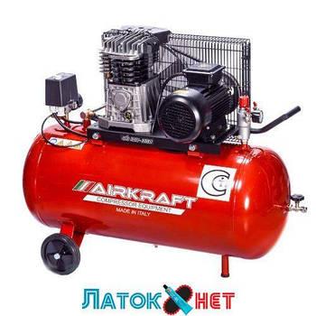 Компрессор поршневой с ременным приводом 100 л 360 л/мин 220 V 2,2 кВт AK100-360M-220-ITALY Airkraft