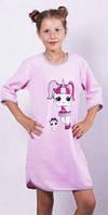 Байковая ночная сорочка разных цветов с лол для девочки подростка 125-162 см