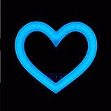Кольорова кільцева лампа у формі серця на штативі з тримачем для телефону Кільцева лампа для макіяжу 48ватт, фото 6