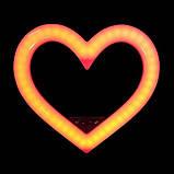 Кольорова кільцева лампа у формі серця на штативі з тримачем для телефону Кільцева лампа для макіяжу 48ватт, фото 7