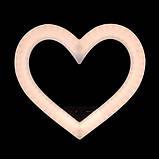 Цветная кольцевая лампа в форме сердц на штативе с держателем для телефона  Кільцева лампа для макіяжу 48ватт, фото 8