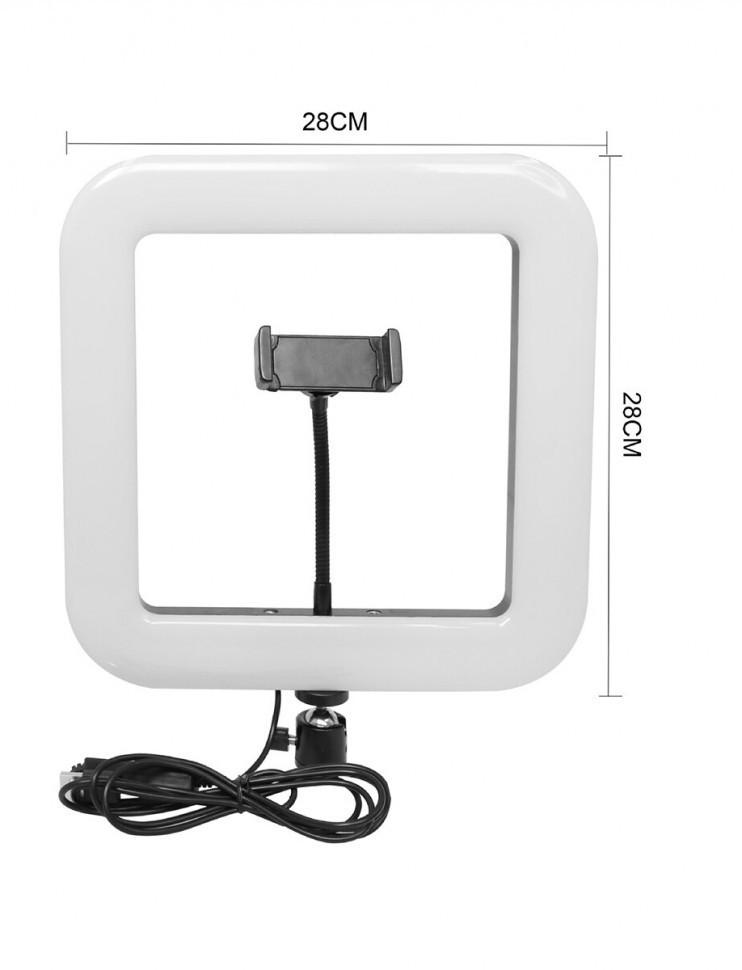 Квадратна світлодіодна селфи лампа D35 з тримачем для телефону