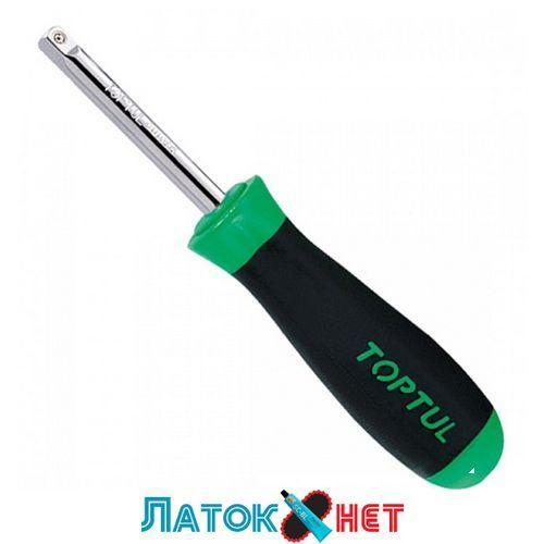 Вороток-отвертка 1/4 150мм (резиновая ручка) CAIP0816 TOPTUL