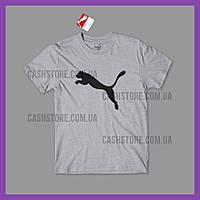 Футболка Puma 'Active Big Logo' с биркой | Пума | Серая
