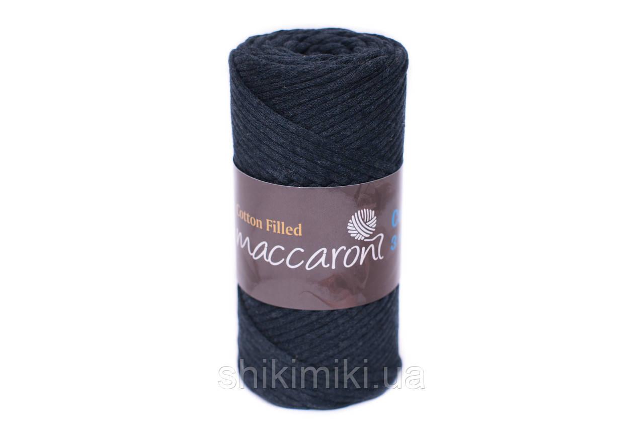Трикотажный хлопковый шнур Cotton Filled 3 мм, цвет Графит