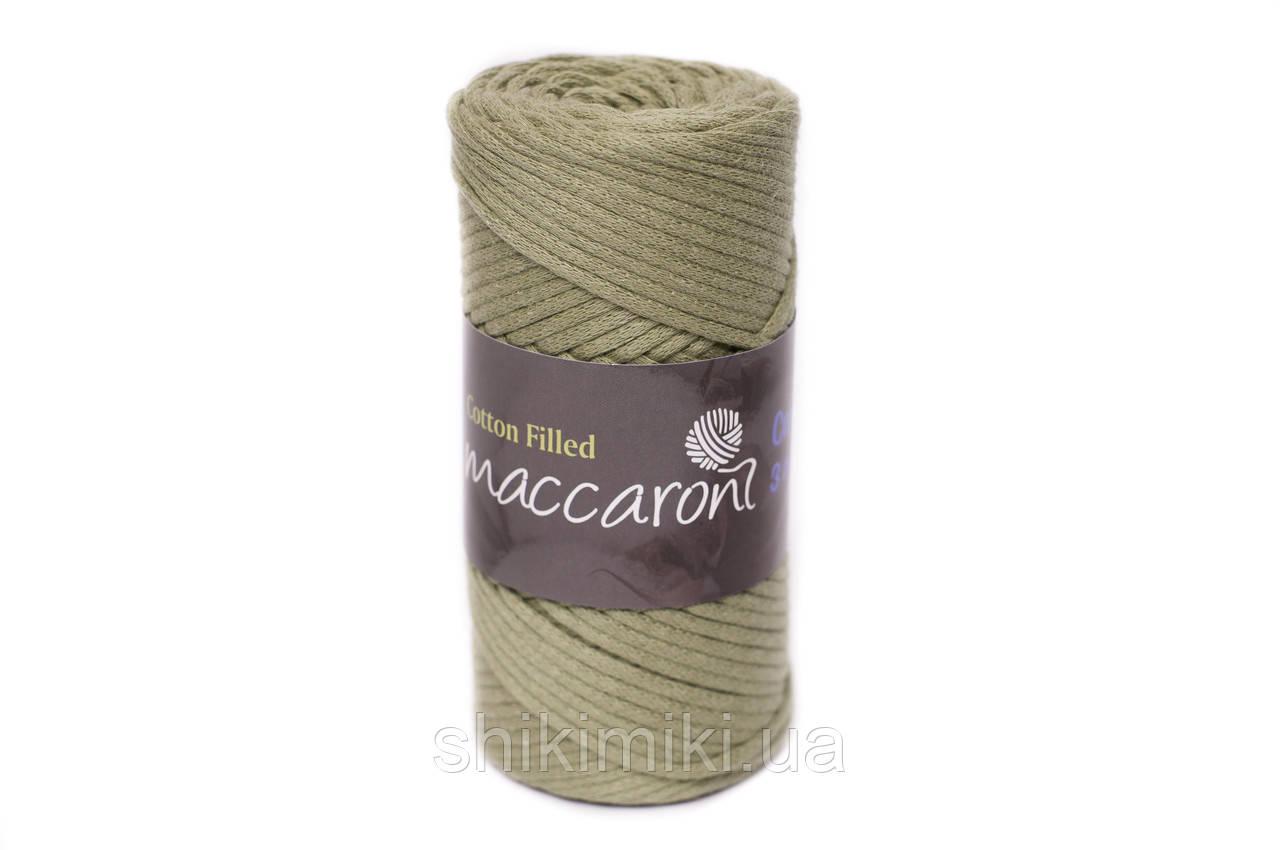 Трикотажный хлопковый шнур Cotton Filled 3 мм, цвет Оливка