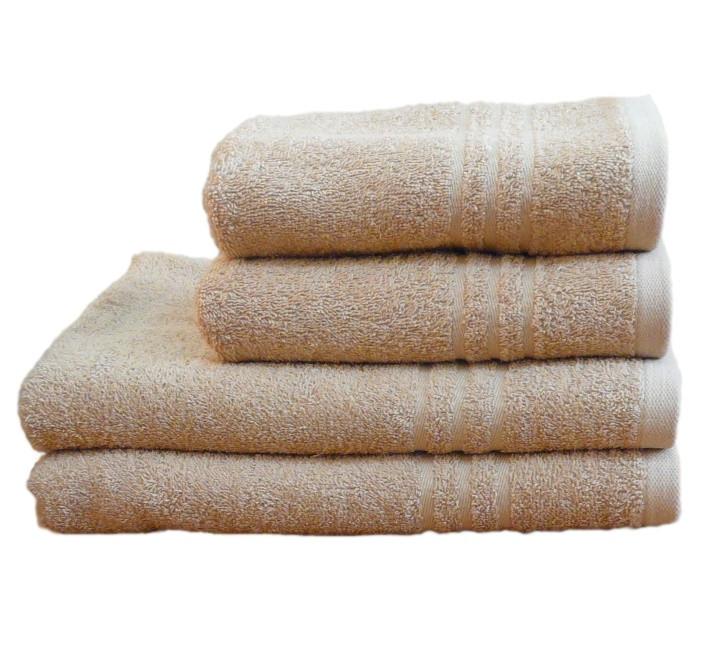 Полотенце махровое банное 50х90 Бежевое 400г/м2