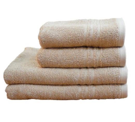 Полотенце махровое банное 50х90 Бежевое 400г/м2, фото 2