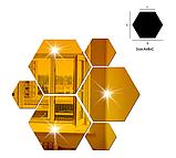 Акрилове дзеркало «Сота» 1 шт 160×138×80 мм ×1 мм золото, фото 9