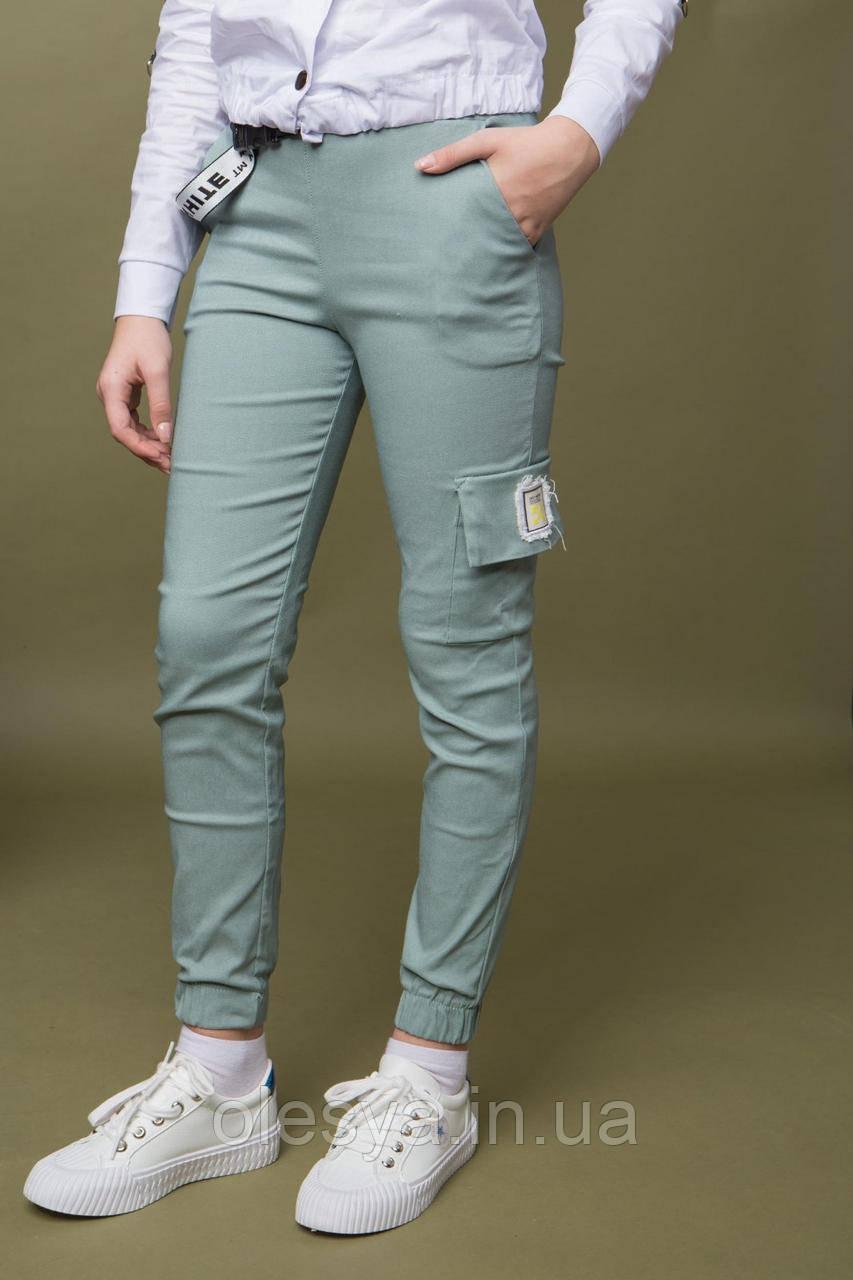 Подростковые брюки карго, джоггеры коттон для девочек размер 152
