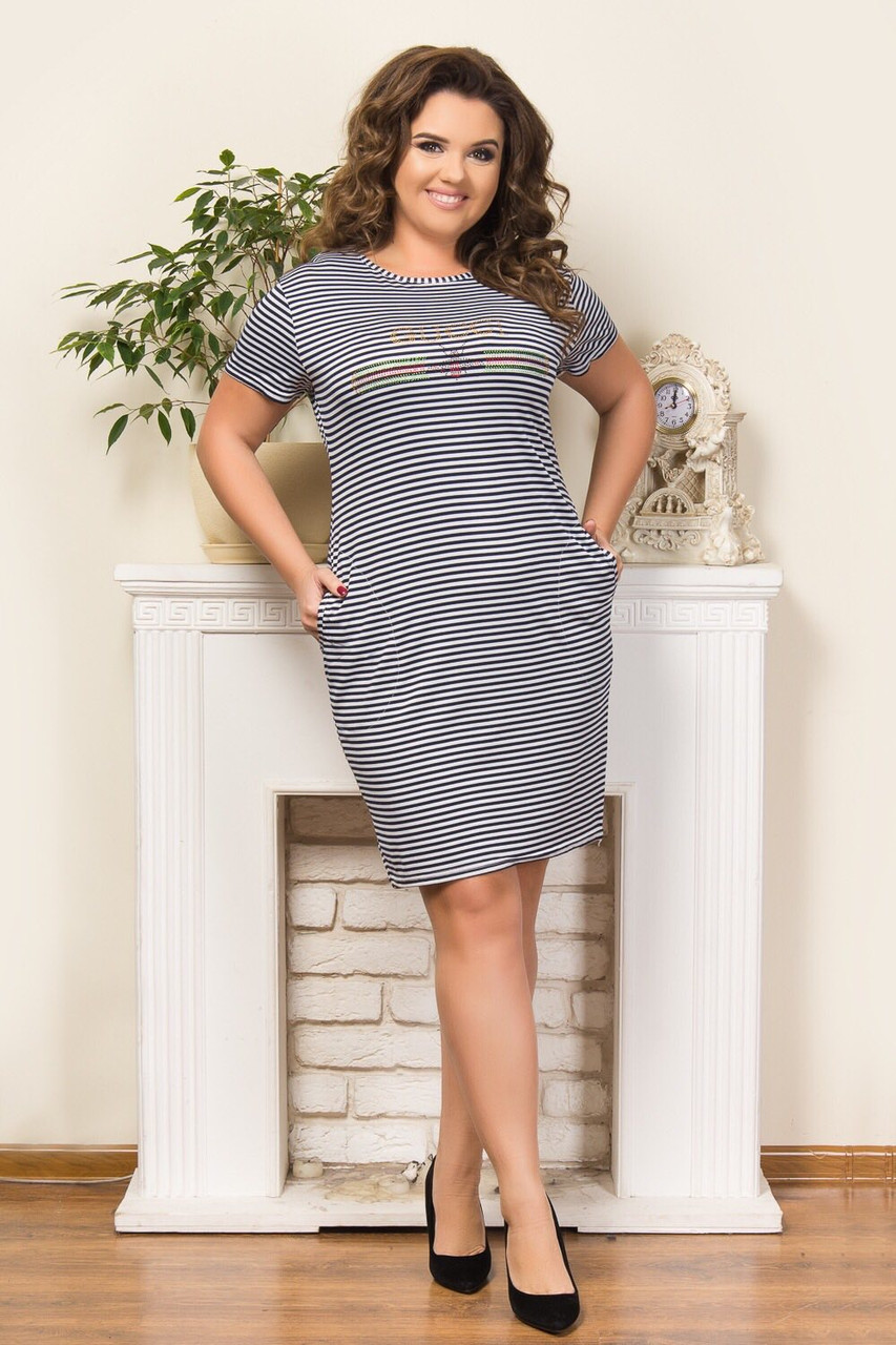 Трикотажне жіноче плаття (р-р 50-52-54) оптом в Одесі.