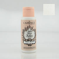 Фарба матова для тканини Style Matt Fabric Paint, 59 мл, Білило, Cadence, 505F-601
