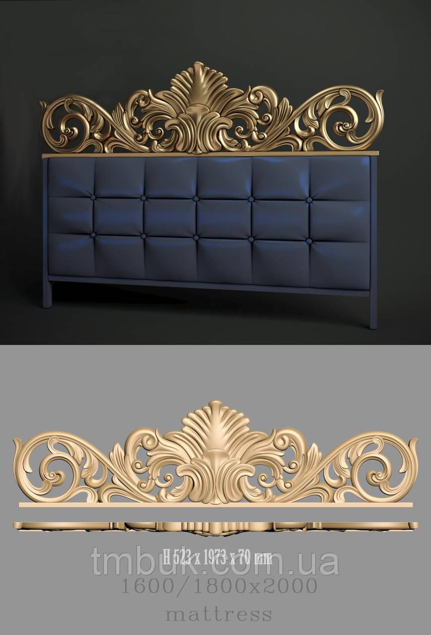 Изголовье кровати корона