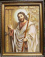 Ікона(Икона)Ісус стукає в двері.Янтарь Икона в подарок