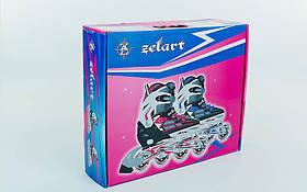 Роликовые коньки раздвижные Zelart размер 38-41, фото 3