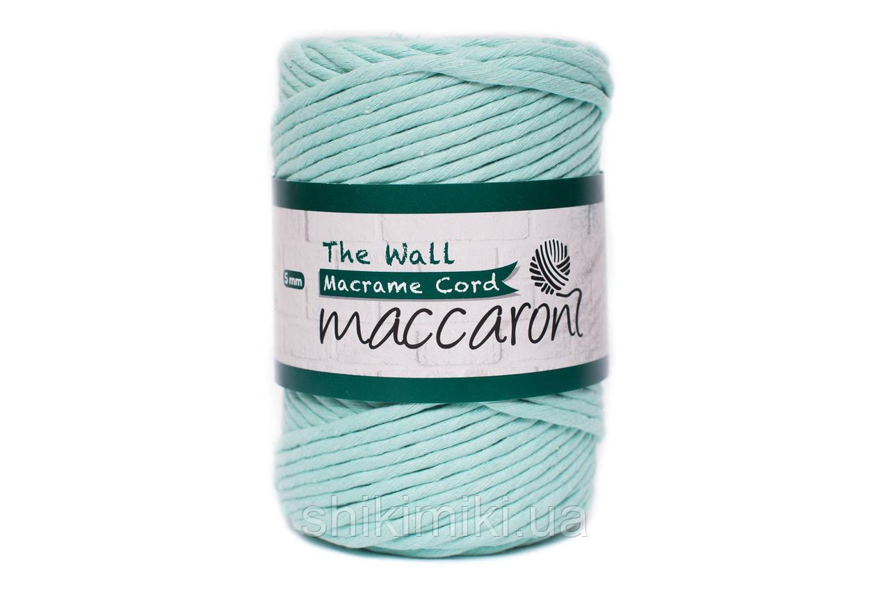 Эко шнур Macrame Cord 5 mm, цвет Ментол