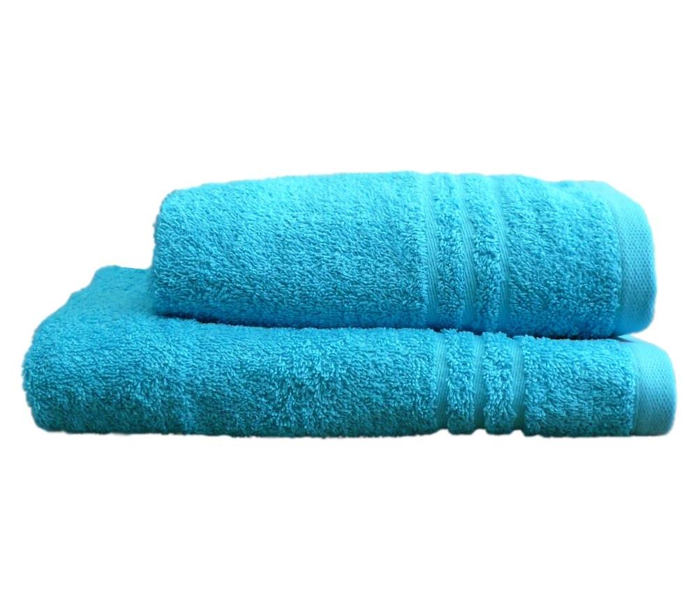 Полотенце махровое банное 50х90 Голубое 400г/м2