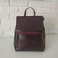 "Женский кожаный рюкзак-сумка(трансформер) ""Жозефина 2 Red Wine"", фото 1"
