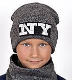 Модная шапка NY для подростков, Разные цвета, 55,56, фото 2