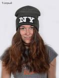 Модная шапка NY для подростков, Разные цвета, 55,56, фото 5