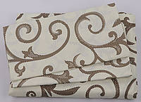 Комплект постельного белья Хлопок 100% GOLD Двуспальный от украинского производителя Молочный 5011