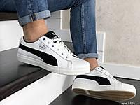 Мужские кроссовки Puma Suede белые с черныем