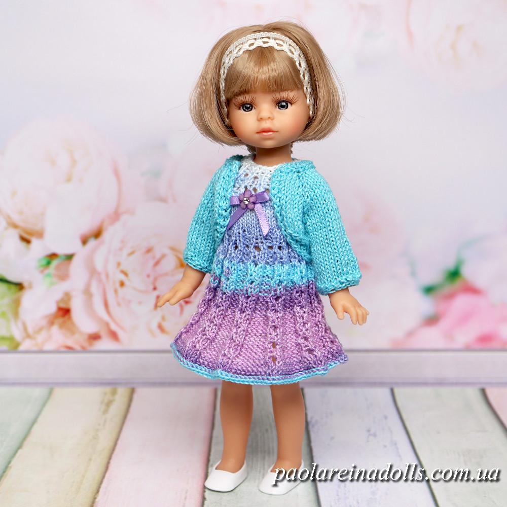 Платье с кофточкой для кукол мини Подружки 21 см Паола Рейна