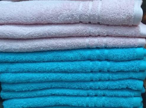 Полотенце махровое банное 50х90 Голубое 400г/м2, фото 2