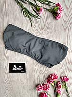 Топ-бандо тёмно-серый купальный женский без чашек (чашки отдельной позицией) серии GRAPHITE