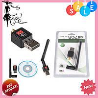 Антенна WIFI USB 802.1 IN WF-2 | беспроводной Wi-Fi USB адаптер! Топ продаж