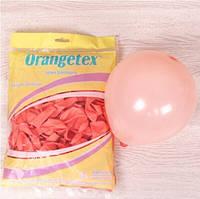 """Воздушные шары пастель макарун оранжевый 5"""" (Китай), 100 штук"""