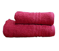 Полотенце махровое банное 50х90 Красное 400г/м2