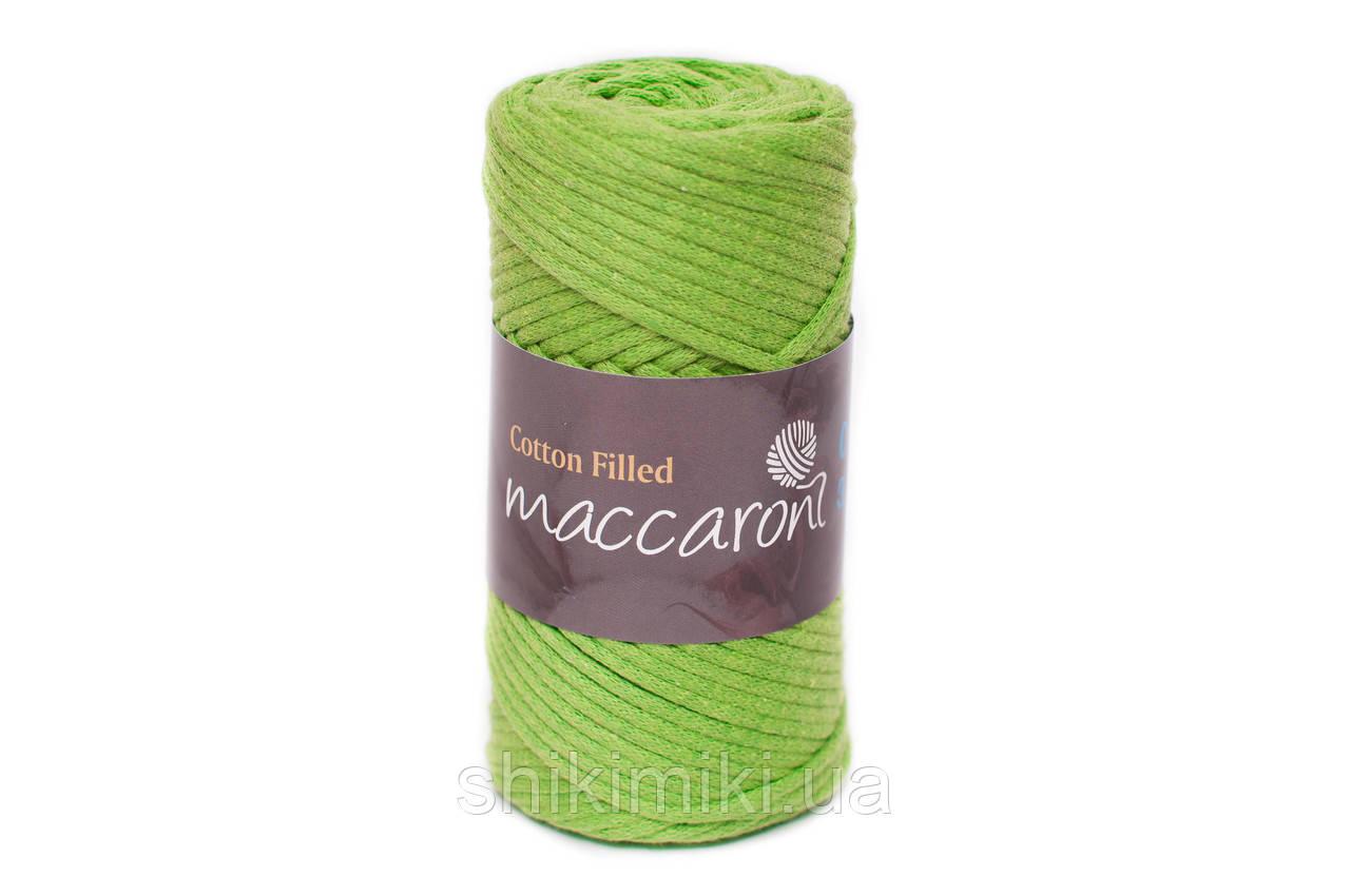 Трикотажный хлопковый шнур Cotton Filled 3 мм, цвет Зеленое яблоко